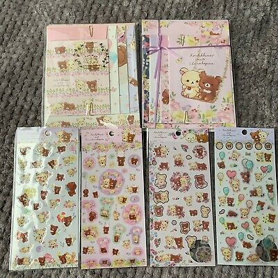 Korilakkuma Chairoikoguma Stationery Sticker Letter Bundle San-X Japan