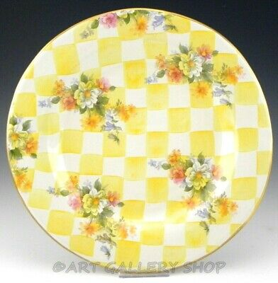 "MacKenzie Childs Honeymoon YELLOW LEMON CURD 11-3/4"" DINNER PLATE CHARGER"