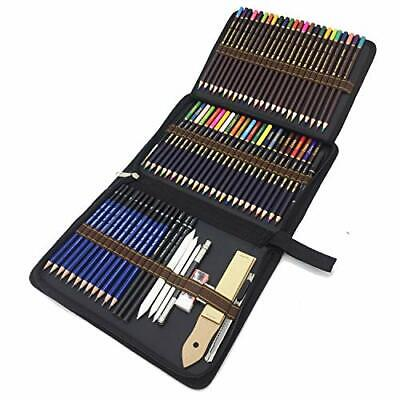 Sketching Drawing Pencils Set, 72 Piece Coloured Pencils and Sketching Pencils