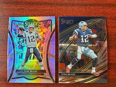 2019 Select Tom Brady New England Patriots Silver Premier & Field Level Lot