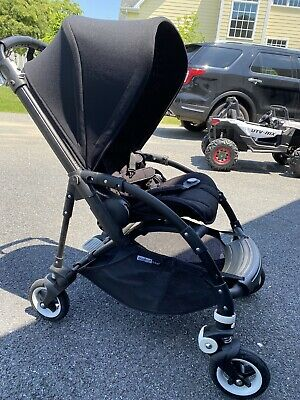 Bugaboo Bee All Black Standard Single Seat Stroller Excellent Condition