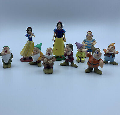 Princess Snow White and the Seven Dwarfs Figure Cake Topper Toy Kid Gift