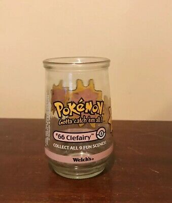 Welch's POKEMON CLEFAIRY Jelly Jar Glass #66 1999