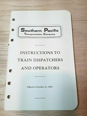 Southern Pacific Instructions to Train Dispatchers and Operators - Oct, 1976