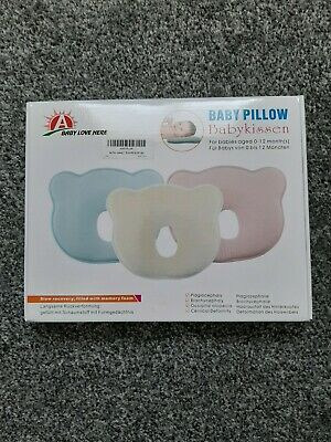 Baby Cot Pillow Infant Newborn Anti Flat Head Cushion for Crib Bed Neck-Support