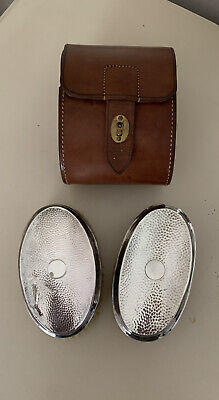 James Deakin /Charles Miller Gents Hallmarked Silver Brushes In Maws London Case