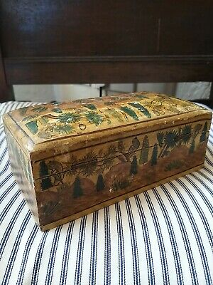 Lovely Antique Decorated Jewellery Desk Box