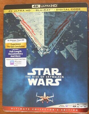 Star Wars The Rise Of Skywalker 4K Ultra Hd Blu-Ray Digital New W/ Slip Cover