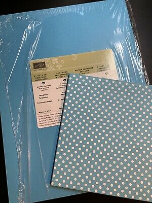 Stampin' Up! Retired Tempting Turquoise card stock and DSP