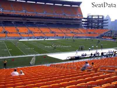 (2) Steelers vs Browns Tickets 25 Yard Lower Level Close to the Aisle!!
