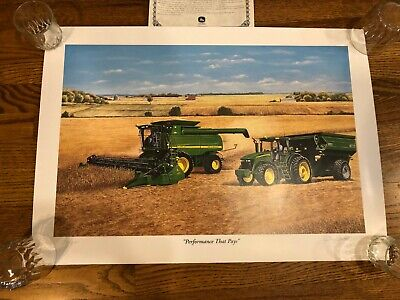 """Signed John Deere Ltd. Edition 25-1/2 x 18""""- """"Performance That Pays"""" Terry Downs"""