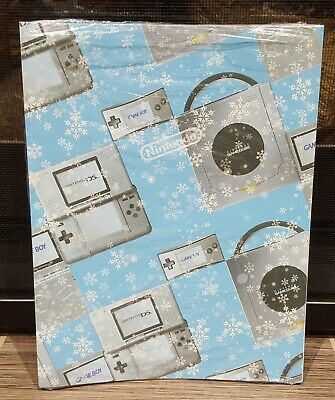 Original Promotional Nintendo GameCube DS GB Micro Mario Kart Wrapping Paper New
