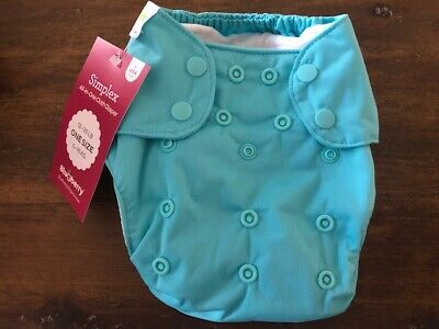 Blueberry Simplex All-in-One Cloth Diaper - One Size - Snap Close - Maui Blue