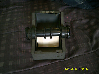 Vintage Grey Metal Rolodex Model 2254 D, Zephyr Rolodex Rotary File, VGC