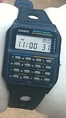 Casio CA-55 Vintage LCD Digital Calculator Alarm Chrono Watch