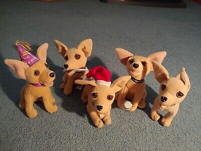 Taco Bell Chihuahua Dogs (Lot of 5)