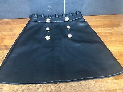 Girls River Island faux leather skirt 11-12yrs