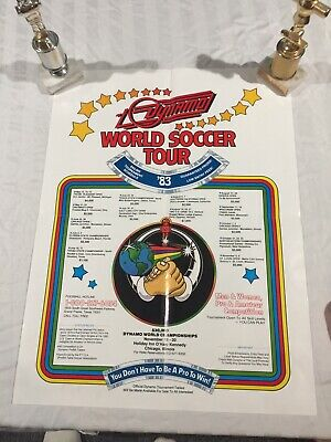 Foosball Tour poster, Dynamo, Tournament Soccer, Vintage, Collectable