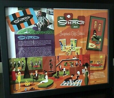 SHAG Josh Agle Framed Retro Promotional Store Advertisements Reproduction Print