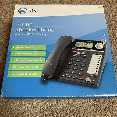 New AT&T 2-Line Speaker Phone Model No. 993