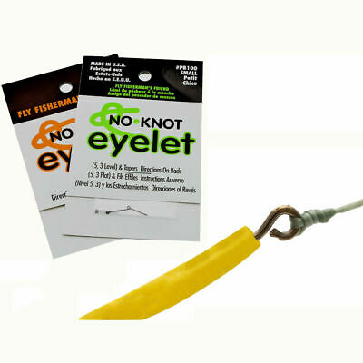 South Bend 2 pc Fly fishing eyelets line leader no knot Large 6-9 wt Ships N 24h