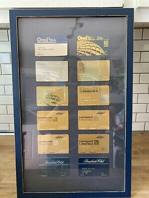 Framed Lot Continental Airlines One Pass Elite Good , Presidents Club Cards Exp