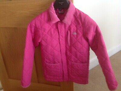 Girls Trespass pink quilted jacket, age 7-8 yrs