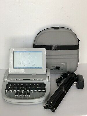 Stenograph The Wave Court Reporting Machine With Case Power & Tri-pod