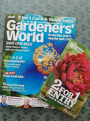 BBC Gardeners World Magazine Issue May 2020 Free 2 For 1 Entry Guide 461 Gardens