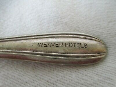 Vintage SPOON Utensil marked WALCO SECTIONAL A1+ Weaver Hotels Bucyrus Ohio