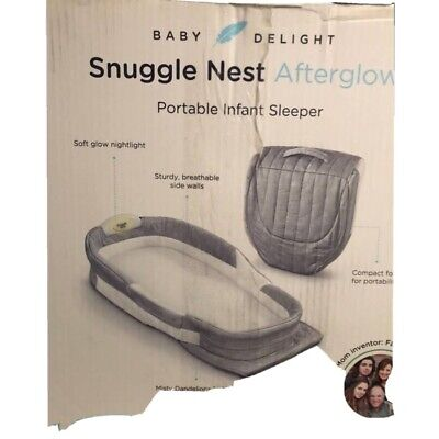 Baby Delight Snuggle Nest Portable Harmony Infant Sleeper Baby Sound & Light Bed