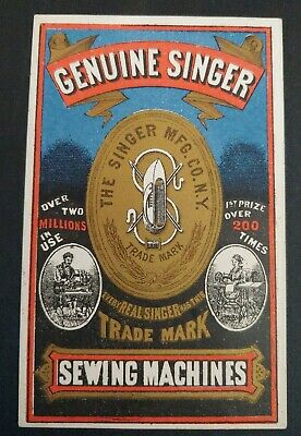 Trade Card THE SINGER SEWING MACHINE CO, NY - GENUINE, OVER 200 AWARD WINNER