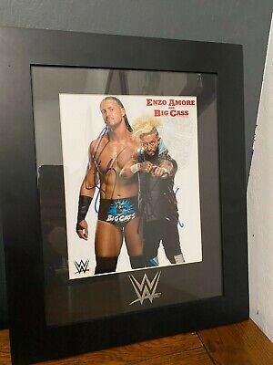 WWE AUTOGRAPH Authentic Enzo Amore & Big Cass Framed Signed Wrestling Photo
