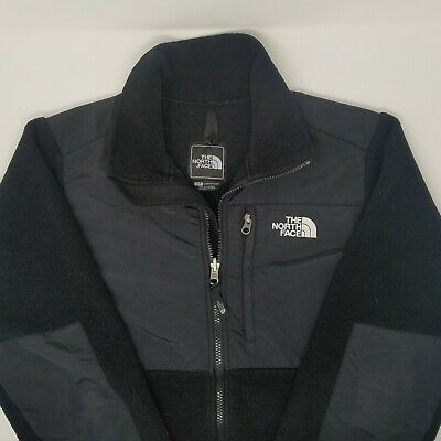 The North Face Womens Black Denali Jacket Fleece Zip Pockets Size Small EUC TNF