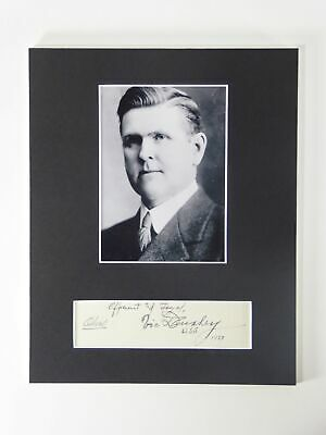 A Victor Donahey SIGNED Matted 8x10 Display Governor Senator Ohio Autographed
