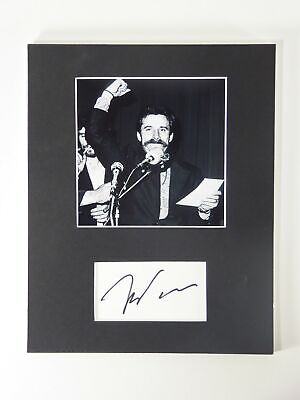 Lech Walesa SIGNED Matted 8x10 Display Polish President Nobel Peace Autographed