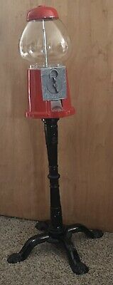 1985 Carousel Vintage Gumball Machine W/Stand