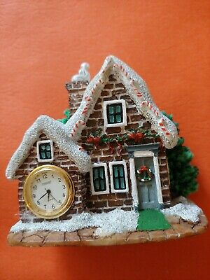 Christmas clock 3 inches tall