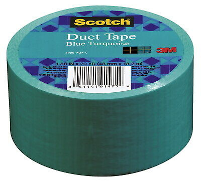 Scotch Duct Tape, 1.88 Inches x 20 Yards, Blue Turquoise