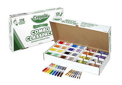 Crayola Crayon and Classic Marker Combo Classpack, Standard Size, Set of 256