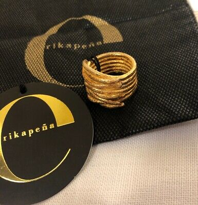 Erika Pena Moya Gold Plated 925 Ring Size 8 Retails For $308