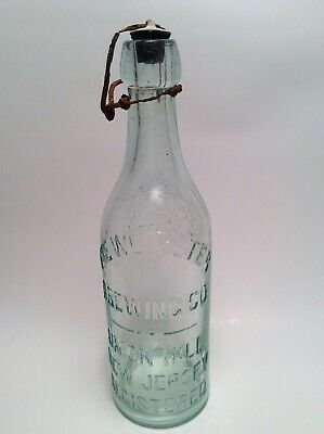 SCARCE Antique The WM Peter Brewing Co. Union Hill,N.J. Blob Top Beer Bottle