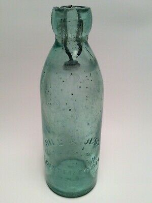 VERY SCARCE Antique Nill & Jess Watertown,N.Y. Blob Top Beer Soda Bottle