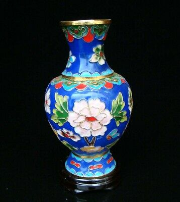 150mm Chinese Collectible Handmade Brass Cloisonne Enamel Vase Deco Art