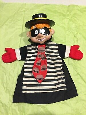 Vintage 1993 McDonalds Advertisement The Hamburglar Hand Puppet
