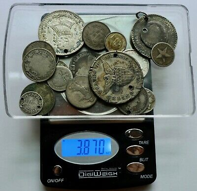 Foreign Silver Coin Cull Lot: Collection of Old Silver Coins in Cull Condition