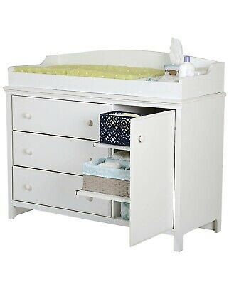 South Shore Cotton Candy 3 Drawer Wood Changing Table in White