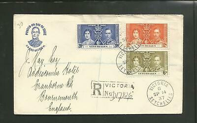 Seychelles 1937 coronation first day cover with nice cachet - R4