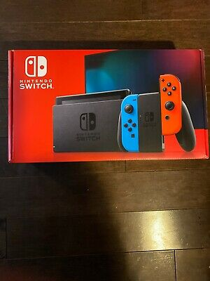 Nintendo Switch with Neon Blue and Red Joy‑Con (Newest Model - V2) Brand New