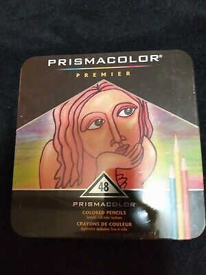 Prismacolor Premier Colored Pencils Soft Core 48 Pack in Collector Tin *New*